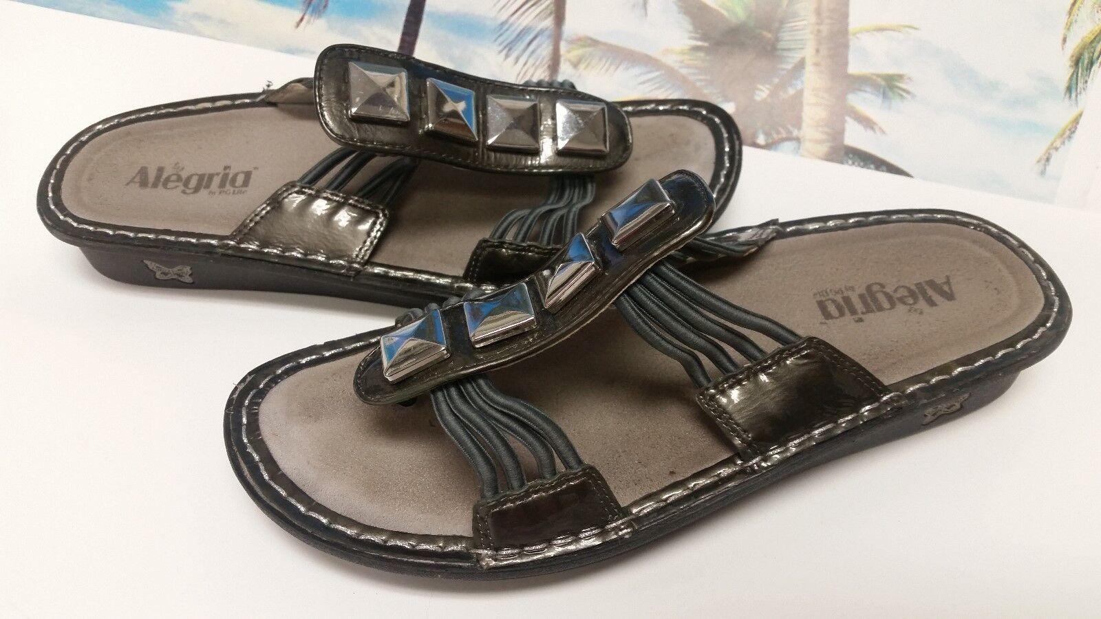 L @ @ @ @ K Mujer Alegria gris Metálico Sandalias Talla 40 (US 10) Excelente  suministramos lo mejor