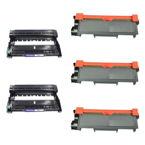 3 Pack TN660 Toner and 2 PK Drum DR630 For Brother DCP-L2520DW L2540DW Black Ink