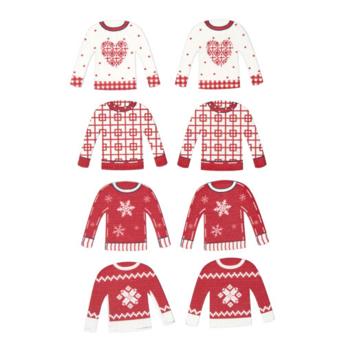 5x Craft Embellishment Xmas Jumper PK of 8 Sewing Craft Tool Hobby Art