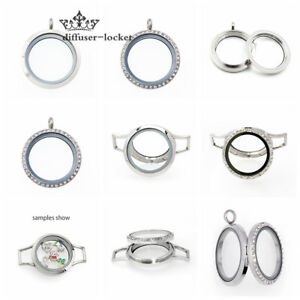 30mm-stainless-steel-Living-Memory-Glass-Locket-Pendant-fit-Floating-Charms