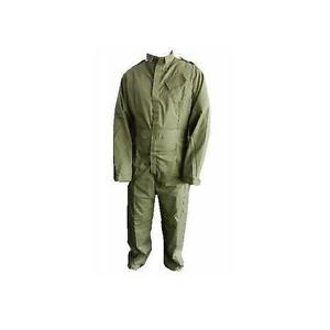 Coverall-Boilersuit-Overall-British-Army-Issue-Olive-Green-Velcro-Front-New