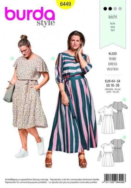 Burda Ladies Plus Size Easy Sewing Pattern 40 Summer Dresses Interesting Easy Sewing Patterns