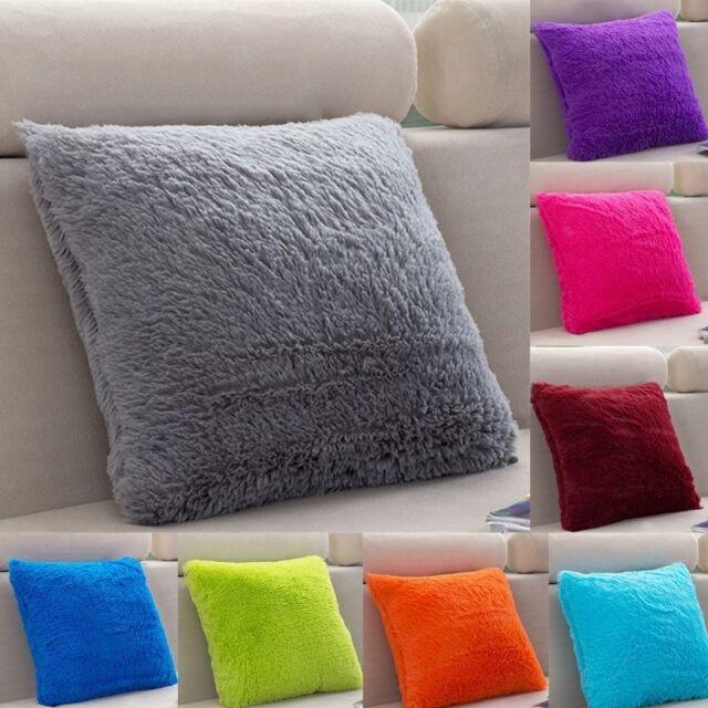 Peluche Housse de Coussin Taie d'oreiller Canapé Maison Cushion Cover 43x43cm