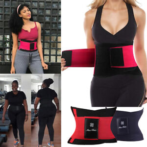 c00112ac6fe9b Image is loading Womens-Waist-Trainer-Cincher-Sweat-Girdle-Gym-Workout-