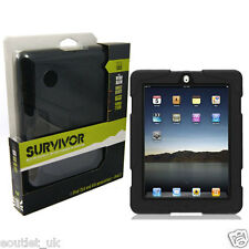 Griffin Survivor Tough Rugged Case For iPad 2, iPad 3 & iPad 4 - Black BRAND NEW