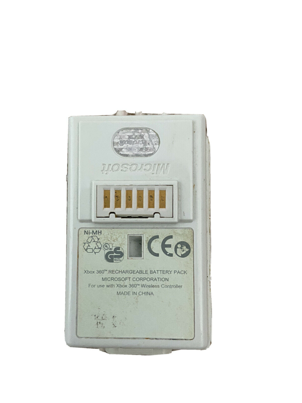 Official White Microsoft Xbox 360 Rechargable Battery Pack For Controller