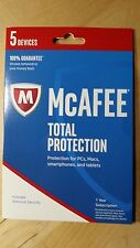 McAfee 2017 Total Protection- 5 Devices - Retail package!