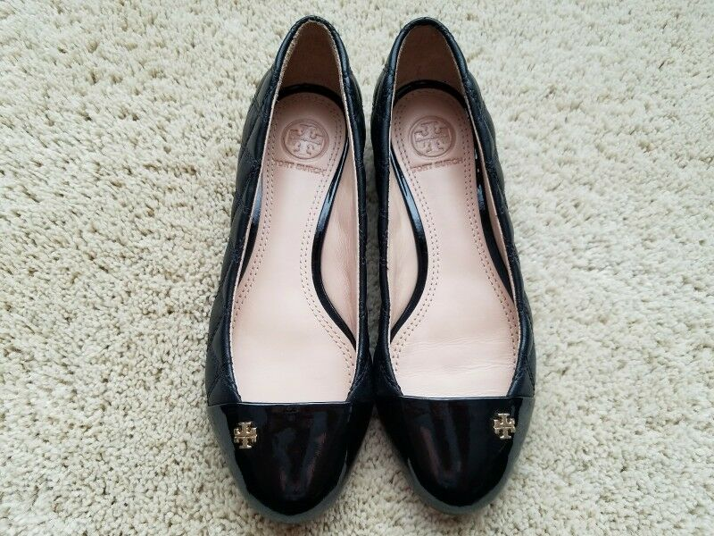 Tory Burch Burch Burch Claremont Ballets Flat Quilted Leather - Black - Size 5 7b8e66