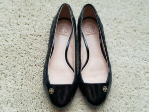 53d5f45b1dc2 Image is loading Tory-Burch-Claremont-Ballets-Flat-Quilted-Leather-Black-