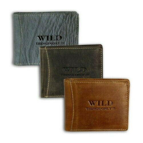 Wild Things Only Men's Wallet Purse Coloured Leather 12x2x10cm OPJ103X