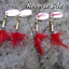 4-HENGJIA-fishing-Red-Feather-tail-trout-copper-spinners-pike-perch-bait-lures thumbnail 2