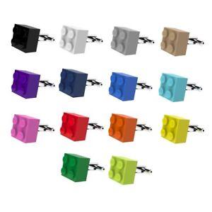 LEGO-Brick-Cufflinks-SILVER-PLATED-Wedding-Groom-Mens-Gift