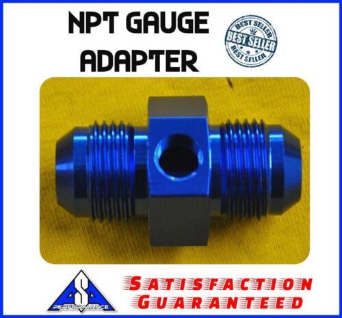 """4 AN 4 AN; 1//8/"""" NPT gauge adapter blue"""
