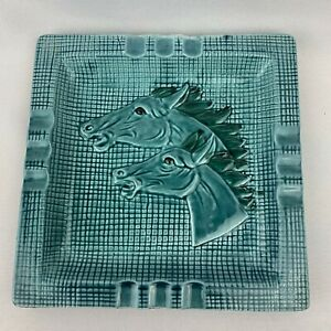 Mid-Century-Modern-Large-Horse-Head-Square-Ashtray-Japan