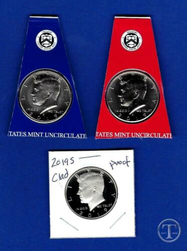 2019 P D and S Proof Kennedy Half Dollar Set-PD from Mint Sets plus S Gem Proof