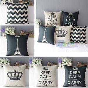 modern simple kissenbezug kissenh lle dekokissen f r sofa couch pillowcase ebay. Black Bedroom Furniture Sets. Home Design Ideas