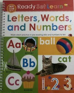Ready Set Learn Book Letters Words Numbers Wipe Clean Book Ages 4 New 9781789471854 Ebay