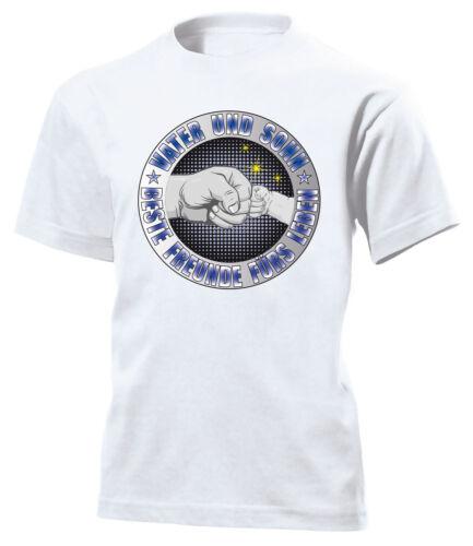 Farben VATER UND SOHN FREUNDE FÜRS LEBEN KINDER T-Shirt 116 bis 164 Vers