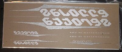 Genuine NOS White & Silver Serotta Colorado Ultra Thin Bike Frame Decals OEM Set