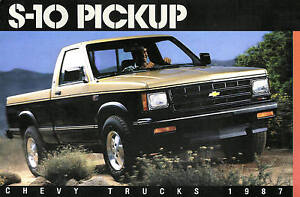 Image Is Loading 1987 Chevy S 10 Pickup Truck Brochure S10