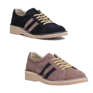 715fbbb30ee225 Fly London Camm 964 Retro Cam Men Suede Marine Taupe Schuhe GroBe UK ...