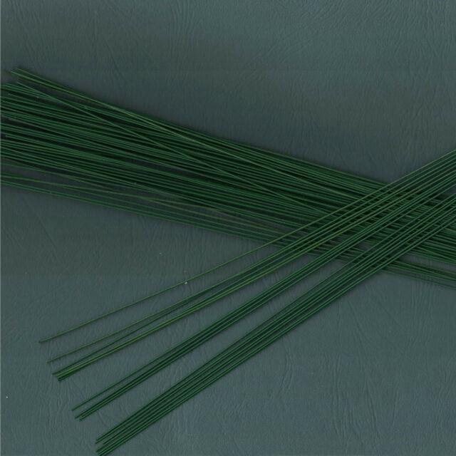 Blumendraht Steckdraht grün Basteldraht 67 Stück 100g // ca 0,9 x 300 mm
