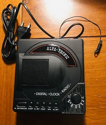 Alfa Tronic Cd-233 Digital-clock-radio Vintage Anni '80