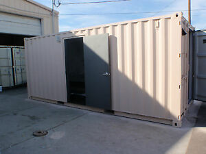 Restroom shipping container conex portable bathroom - Shipping container public bathroom ...