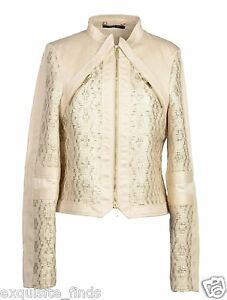S-S-2004-TOM-FORD-for-GUCCI-GOLD-TESSUTO-and-NUDE-LEATHER-JACKET-NEW-with-TAGS