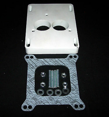 4-BBL Holley Q-Jet Carburator to TBI-Adapter-Plate Throttle-Body-Injection