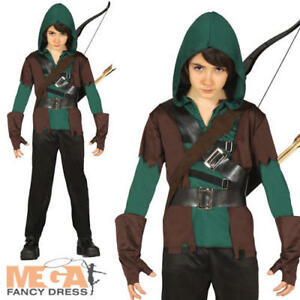 Childrens Fancy Dress Robin Hood Boys Costume Childs Outfit New w