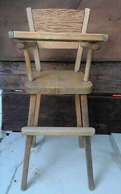 Prime Vintage Wooden Baby Doll High Chair Toy Kitchen Furniture 1970S Ebay Andrewgaddart Wooden Chair Designs For Living Room Andrewgaddartcom