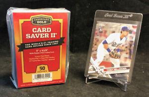 LOT OF 2 Cardboard Gold PSA Graded Card Saver II 200 Ct Holders w/ Box Total 400