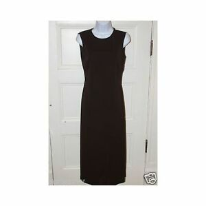 THE LIMITED Black Tea Length Sleevelss Shift Dress sz M