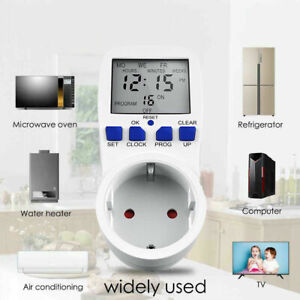 Digital-LCD-Wattmeter-Energieverbrauch-Messgeraet-Stromzaehler-Steckdose-230V-EU