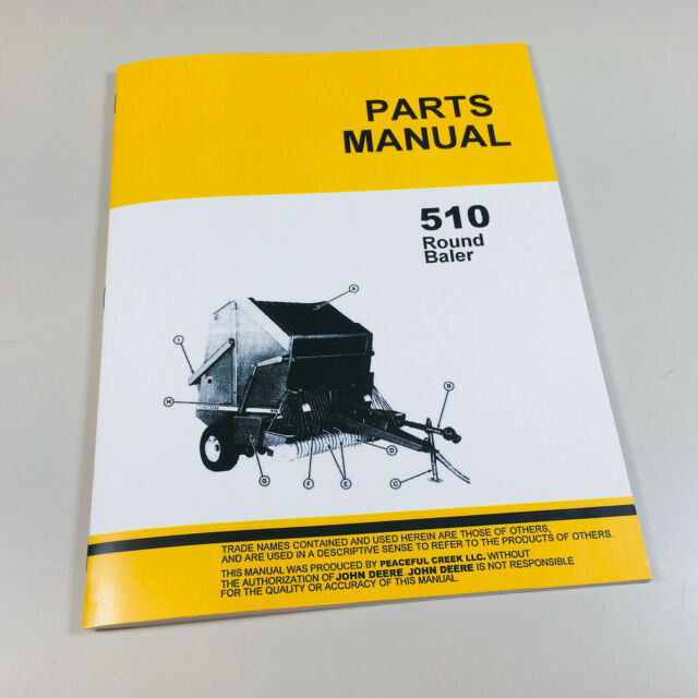 John Deere 510 Hay Baler Parts Manual Knotter Round JD Exploded Views  Assembly