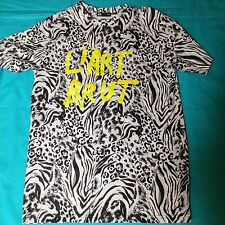 DOPE Made in LA S/S Graphic Wht & Blk Animal Print Mens Sz Lg T-Shirt L'Art Brut