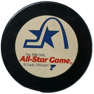 1988-ST-LOUIS-BLUES-39TH-NHL-ALL-STAR-GAME-PUCK-RARE-MISSOURI-VINTAGE