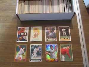 BOSTON-RED-SOX-LARGE-500-CARD-LOT-INSERTS-ROOKIES-amp-PARALLEL-CARDS-ONLY