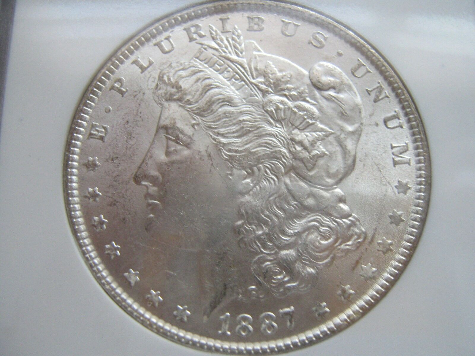 1887 , Morgan Silver Dollar , NGC , MS 63