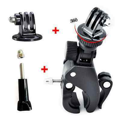 F06642-A Clip Release Bike Handbar Mount Bar+Long Screw with Cap for GoPro HERO3