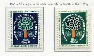 19034-UNITED-NATIONS-New-York-1960-MNH-Nuovi-Forestry-Congr