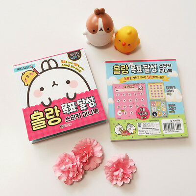 MOLANG Lovely Cute beauty Mini Sticker Book V.2 - achieve a goal