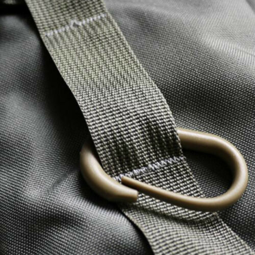 10PCS U-ring Molle Snap Clip Webbing Buckle Carabiner Backpack Hook Tan