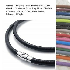 BULK 20 Black  leather braided necklace 60.96cm  24/""