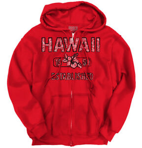 Hawaii-State-Pride-T-Shirt-State-Flag-USA-Hibiscus-Gift-Ideas-Zipper-Hoodie