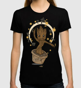 Baby-Groot-Art-T-Shirt-Guardians-of-the-Galaxy-Tee-Men-039-s-Women-039-s-All-Sizes