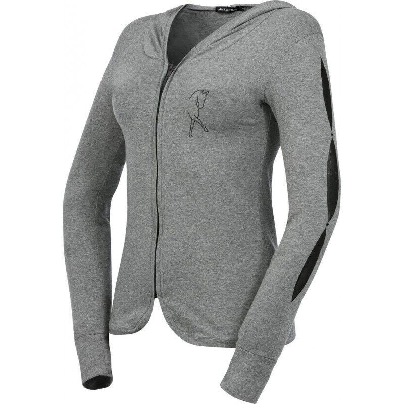 Equi-thème señora ZIP-chaqueta dressage pedrería de de de estrás segunda piel-efecto 2ea0e9