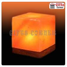 Dell' Himalaya il salgemma Cubo USB LAMPADA LAMPADINA LED LUCE IDEAL GIFT Item