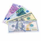 Chic Unisex Currency Notes Pattern Pound Dollar Euro Purse Wallets MC